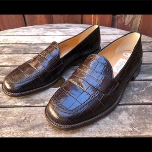 Coach New York croc penny loafers shoes Italy